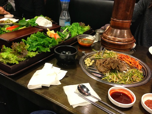 Eating paleo in Korea